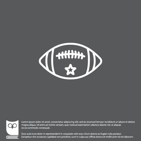Web line icon. American football Illustration