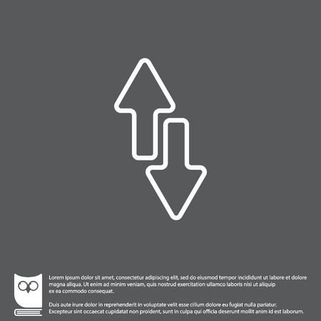 Web line icon. Arrows up-down