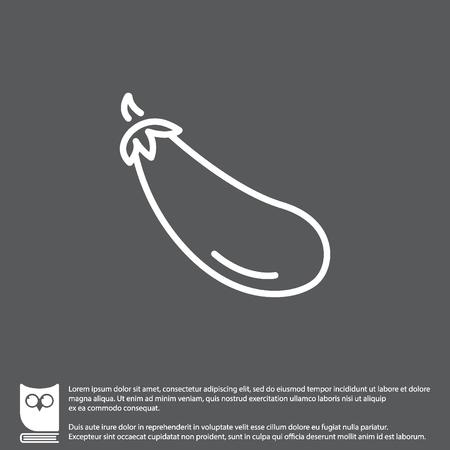 Web line icon. Aubergine, eggplant Illustration