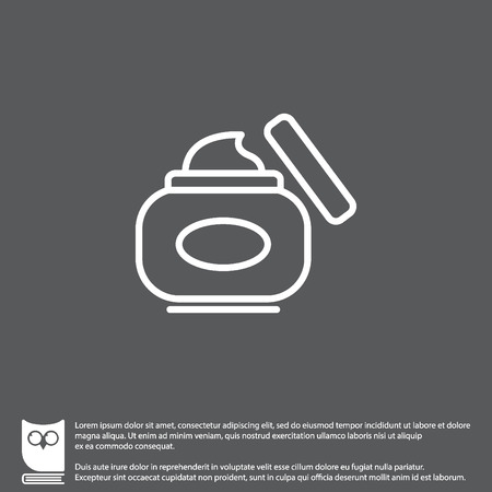 Web line icon. Hand cream, Face cream