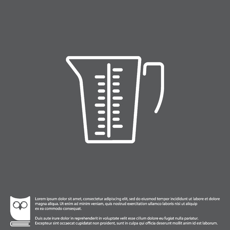 measuring cup: Web line icon. Measuring cup for kitchen