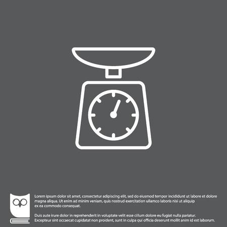 Web-Line-Symbol. Küchenwaage Vektorgrafik