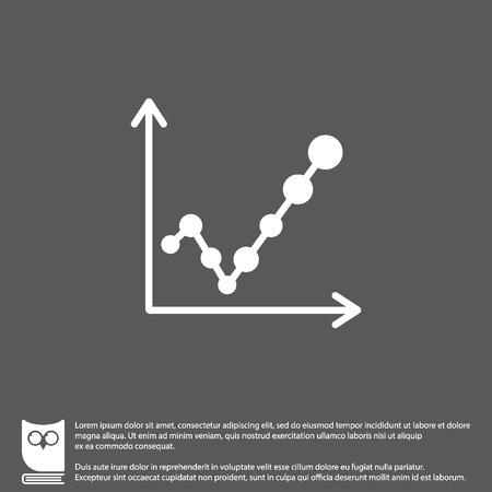 Web line icon. Graph