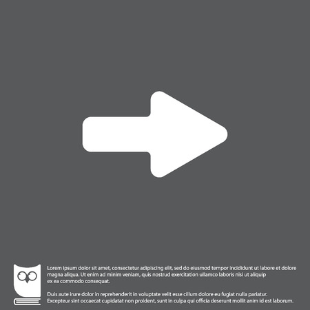 right choice: Web line icon. Arrow right Illustration