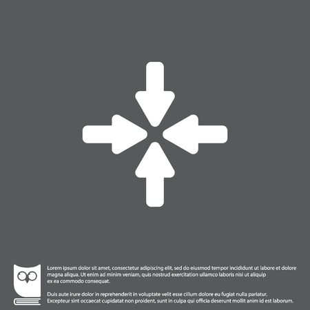 Web line icon. Four arrows Illustration