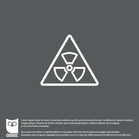 plutonium: Web line icon. Radiation hazard Illustration
