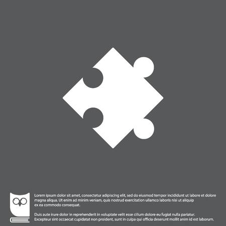 conundrum: Web icon. Puzzle. vector illustration Illustration