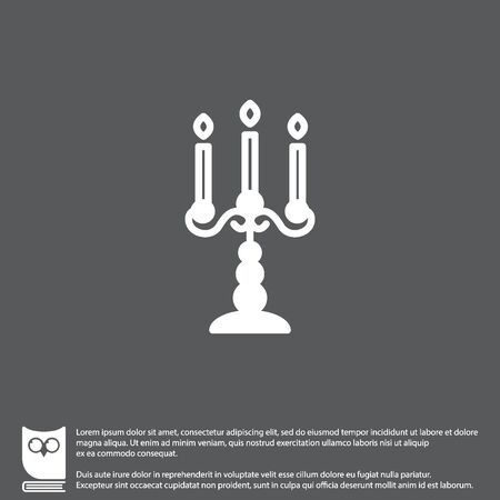 Web line icon. Candlestick. Illustration