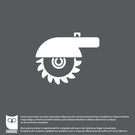 Web line icon. Circular saw Illustration