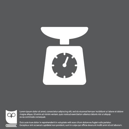 Web line icon. Kitchen scales Illustration