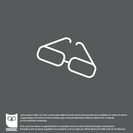 lint: Web lint icon. Glasses Illustration