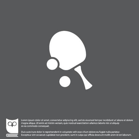 Web icon. Table tennis Illustration