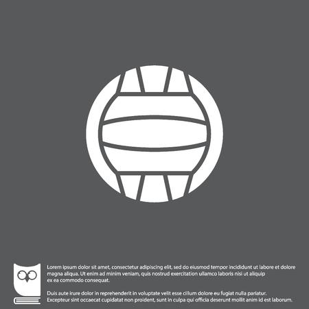Web icoon. Waterpolo Vector Illustratie