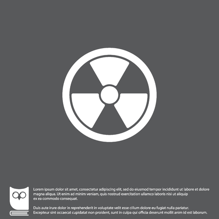 Web icon. Radiation hazard Illustration