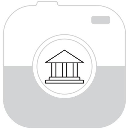 Museum building icon