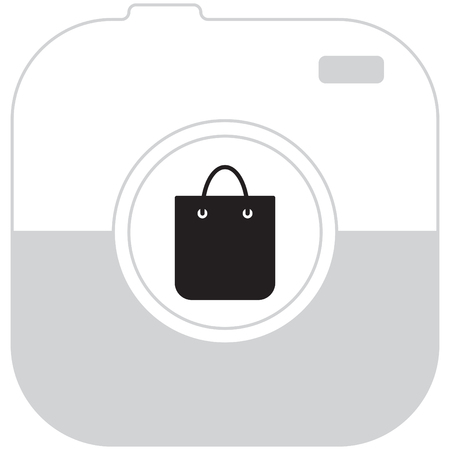 sac: shopping bag - vector icon