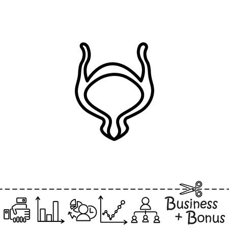 Web line icon. Bladder Illustration