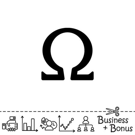 Web icon. Omega symbol