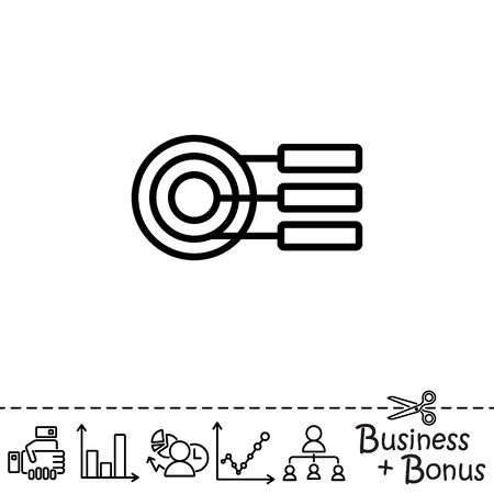 Web line icon. round diagrams, business  graph