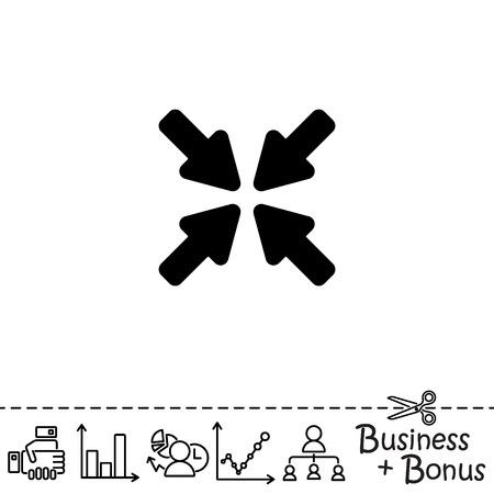 divergence: Web line icon. Overlapping arrow Illustration