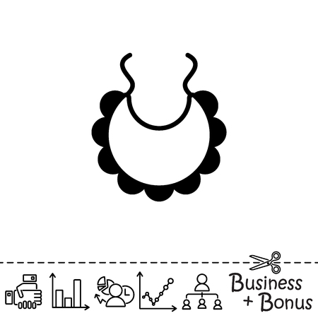 Web line icon. Bib Illustration