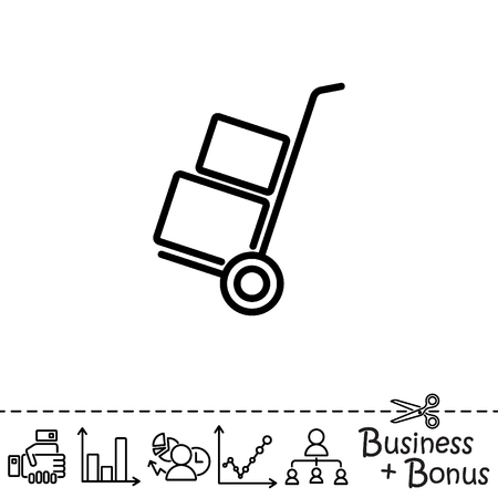 luggage carrier: Web line icon. Trolley