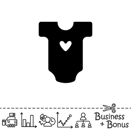 Web line icon. Baby clothes, children's body Vektorové ilustrace