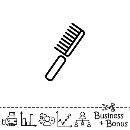 Web line icon. Comb
