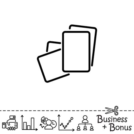 information medium: Web line icon. Paper, blank sheet of paper
