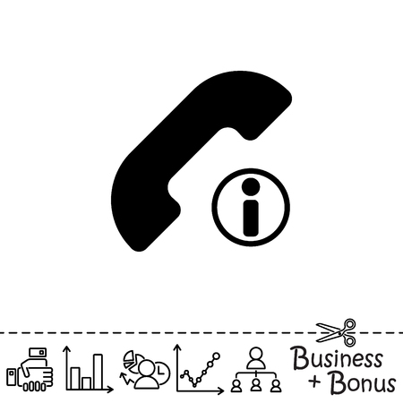inform information: Web icon. Information call, Information about calls