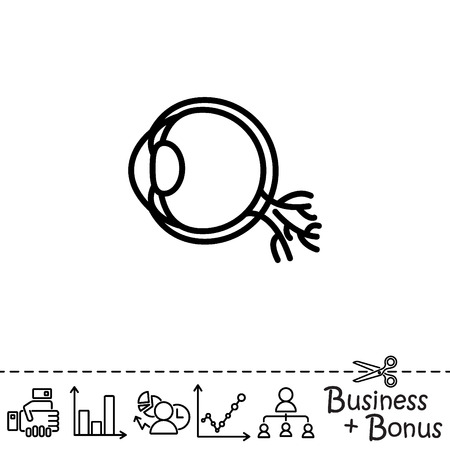 Web line icon. Eyeball Illustration