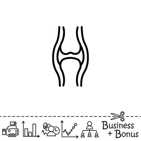 Web line icon. Joint Illustration