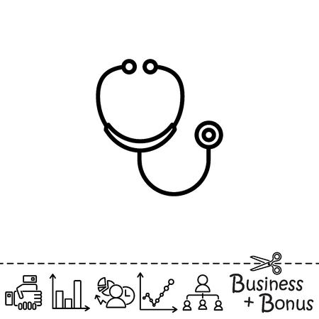 Web line icon. Stethoscope
