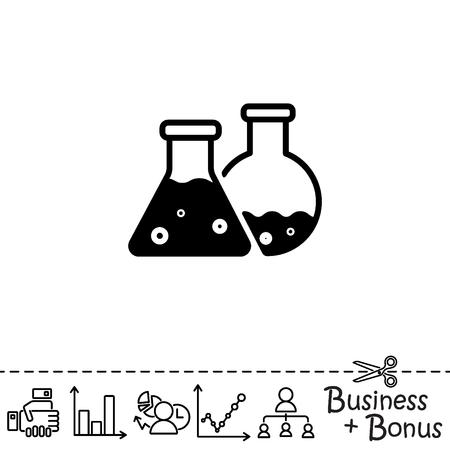 Web icon. Laboratory flasks