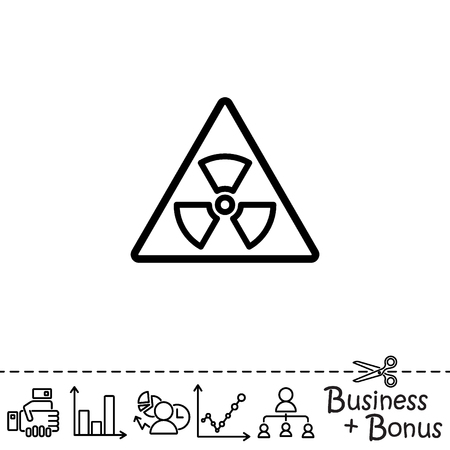 Web line icon. Radiation hazard Illustration