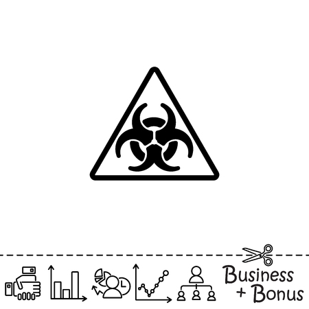atomic symbol: Web icon. Radiation hazard Illustration