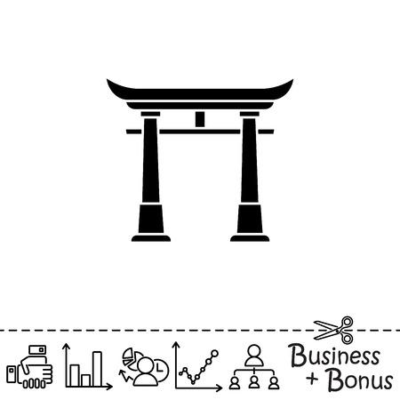 Icono de Web. Torii, puerta de Japón