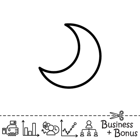 Web Icon Moon Crescent Royalty Free Cliparts Vectors And Stock