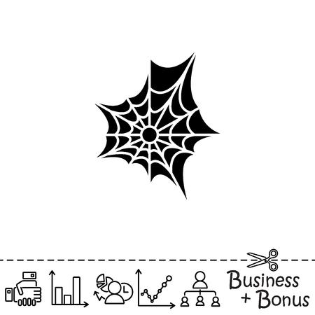 poison: Web line icon. Spiderweb, web icon Illustration