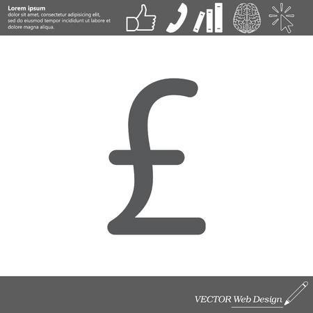 ポンド記号、ウェブサイトのためのベクトルのデザイン