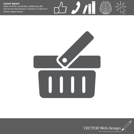 simple store: Shopping basket icon - vector illustration