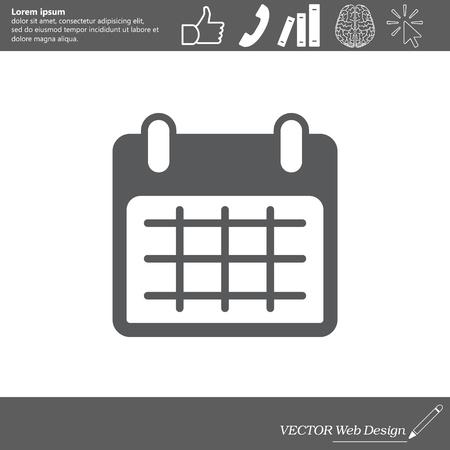 calendar icon: Calendar icon, vector illustration. Flat design style Illustration