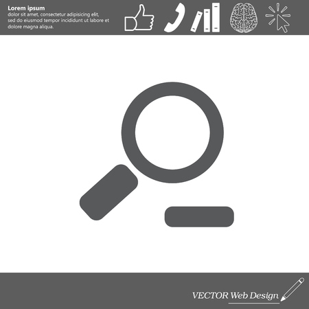 mobile website: Zoom out, web icon. Vector design