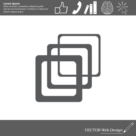 Photo archive icon. Vector illustration.