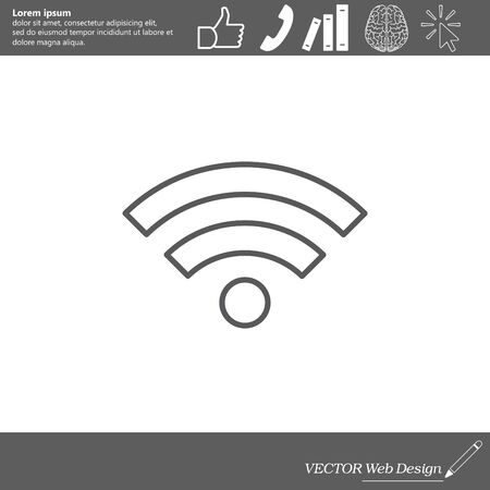 mobile website: Wi-Fi line icon