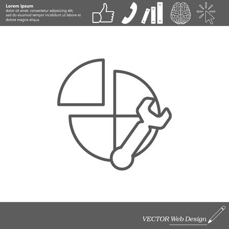 Instellingen icoon Stock Illustratie