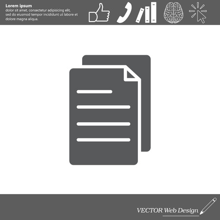 writing pad: note paper icon Illustration