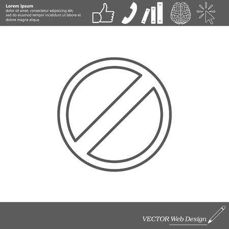mobile website: Restricted line icon, vector design