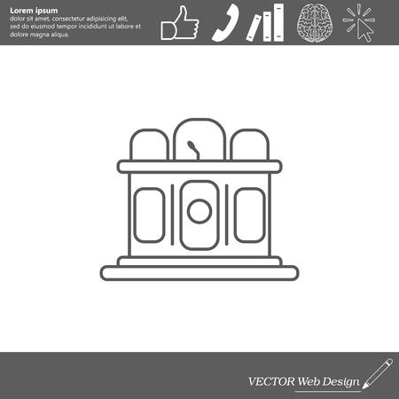 scale icon: Jury line icon