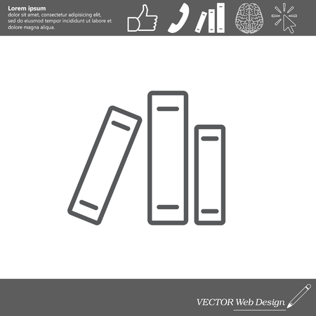 inform information: Line catalog vector icon